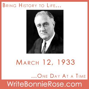 Timeline Worksheet: March 12, 1933, Roosevelt's Fireside Chat
