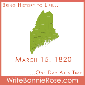 Timeline Worksheet, March 15, 1820, Maine Statehood