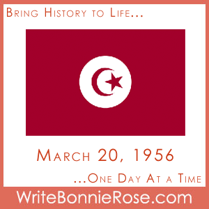 Timeline Worksheet March 20, 1956, Tunisia