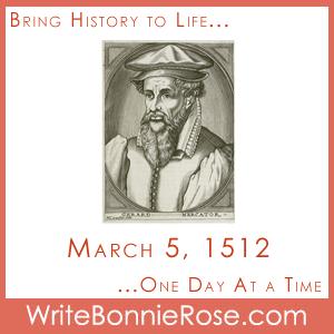 Timeline Worksheet: March 5, 1512, Gerhardus Mercator
