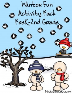 Winter Fun Activity Pack PreK-2nd Grade