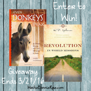 Even Donkeys Speak Giveaway