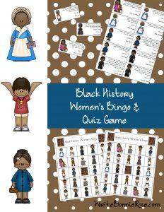 Black History Women's Bingo and Quiz Game
