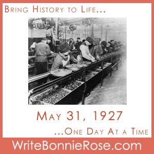 Timeline Worksheet: May 31, 1927 Last Ford Model T