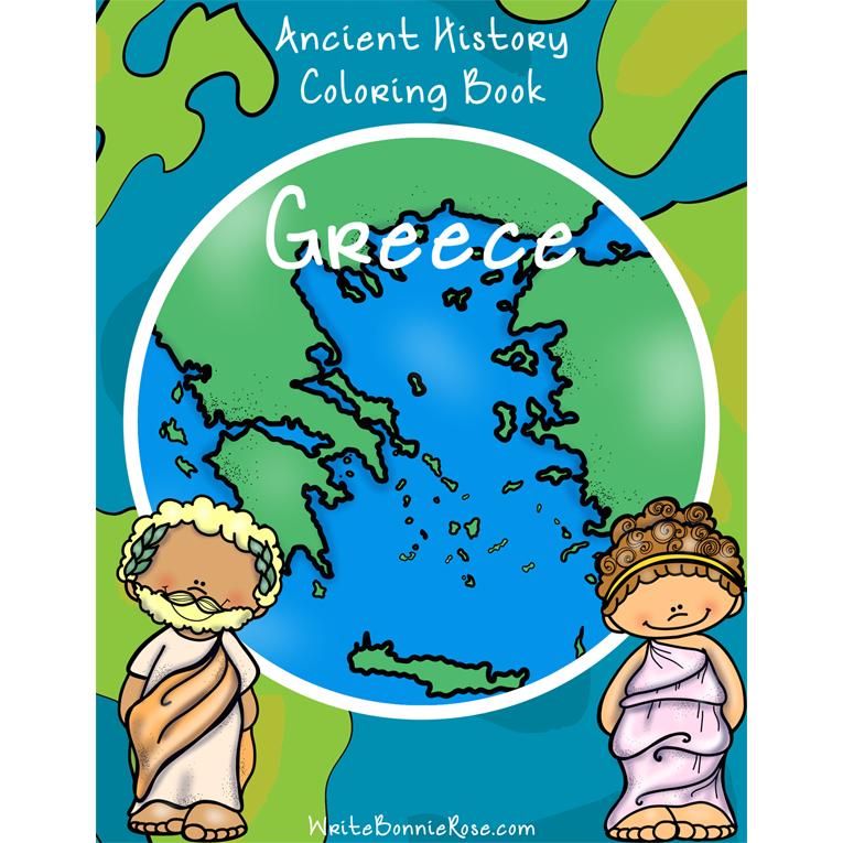 Ancient History Coloring Book: Greece (e-book)