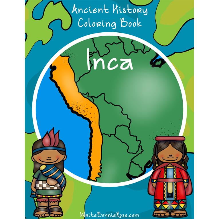 Ancient History Coloring Book: Inca (e-book)