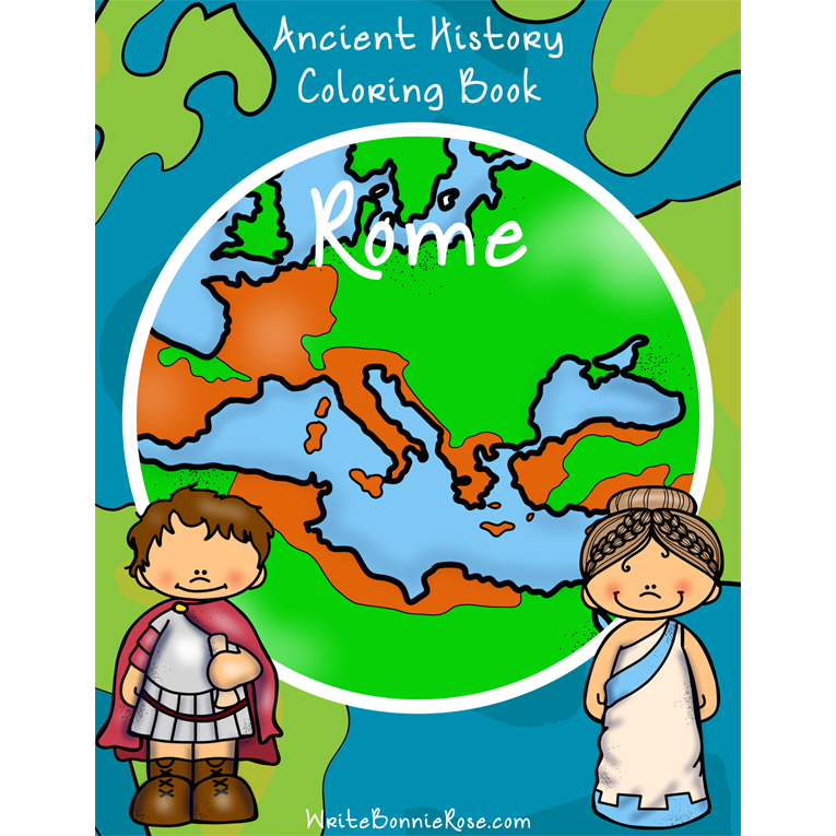 Ancient History Coloring Book: Rome (e-book)