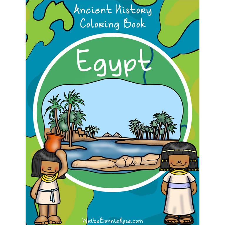 Ancient History Coloring Book: Egypt (e-book)