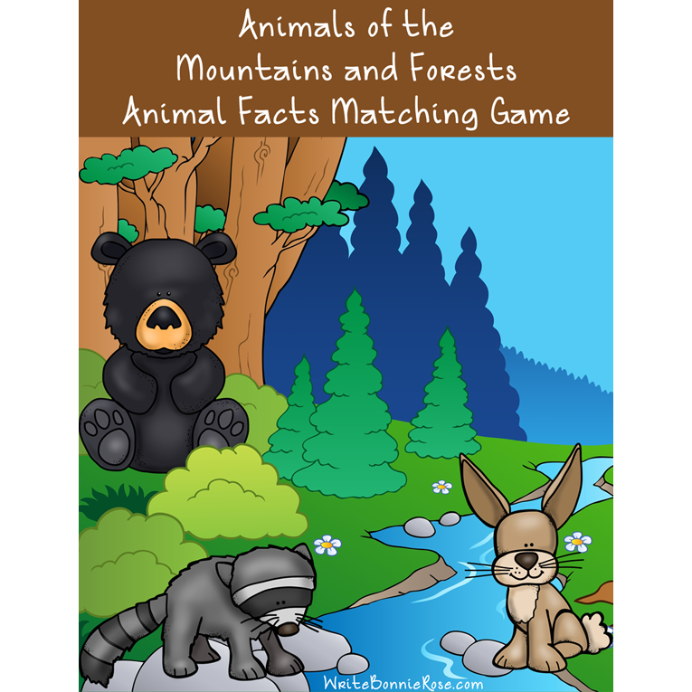 Animals of the Mountains and Forests Cover for WBR