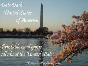 Date Dash United States History Card Game