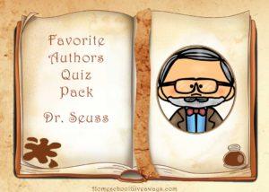 Free Favorite Authors Quiz Pack-Dr. Seuss