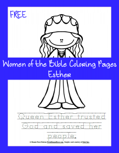 Free Women of the Bible Coloring Page-Esther