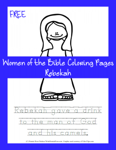 Free Bible Coloring Page-Rebekah