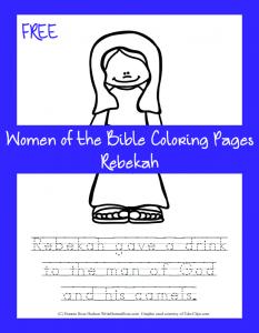 Free Women of the Bible Coloring Page-Rebekah