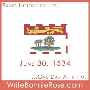 June 30, 1534, Jacques Cartier Prince Edward Island