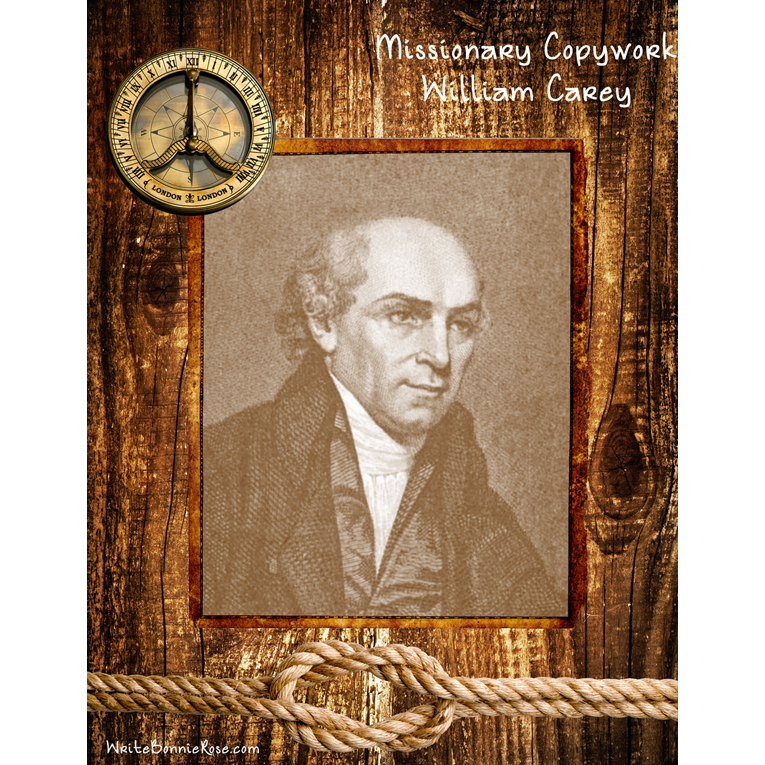 Missionary Copywork: William Carey (e-book)