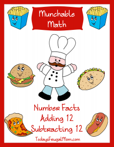 FREE Elementary Math Worksheets: Munchable Math Fun Foods