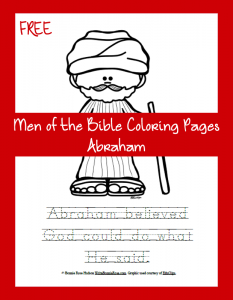 Free Men of the Bible Coloring Page-Abraham