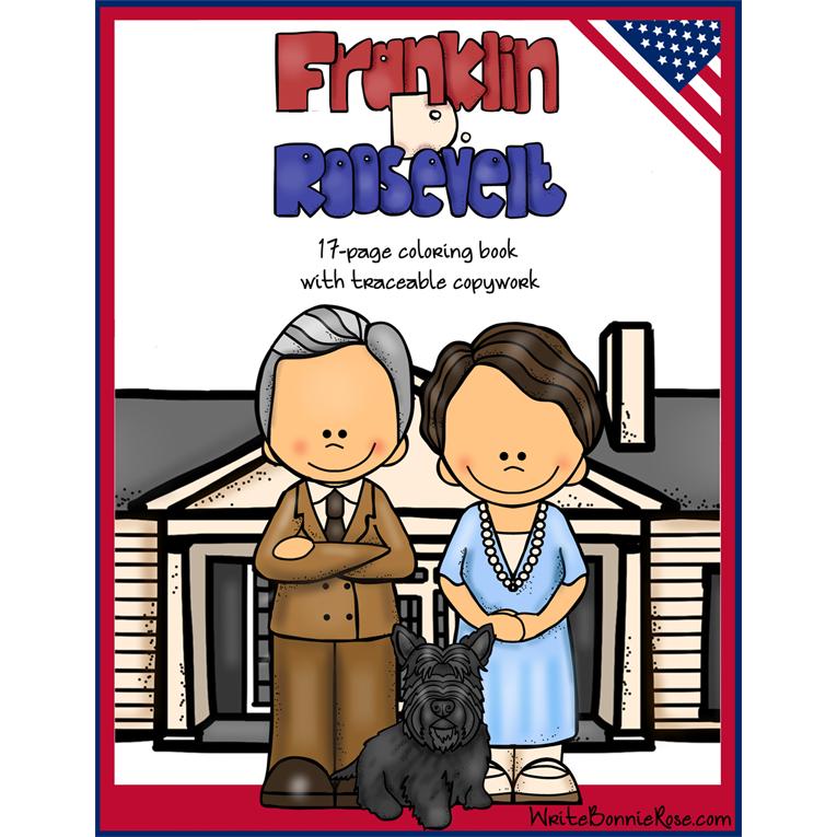 Franklin D. Roosevelt Coloring Book (e-book)