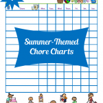 Summer-Themed Chore Charts