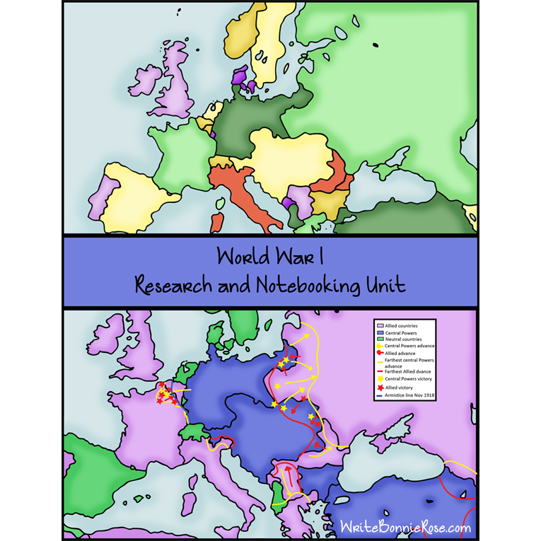 World War I: Research and Notebooking Unit (e-book)