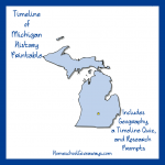 FREE Michigan State History Printable