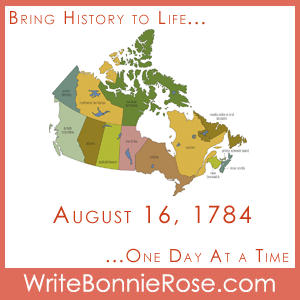 Timeline Worksheet August 16, 1784, New Brunswick founded