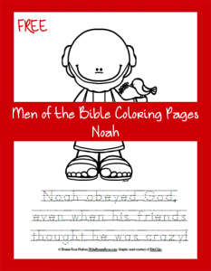 FREE Men of the Bible Coloring Page – Noah