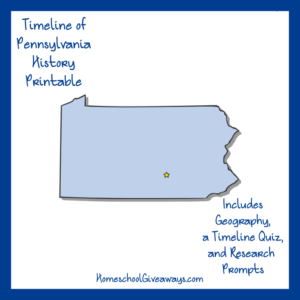 Pennsylvania History Printable