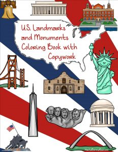 US Landmarks and Monuments Coloring Book