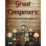 Great Composers Coloring Book with Copywork