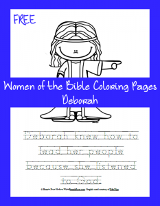 FREE Women of the Bible Coloring Page – Deborah