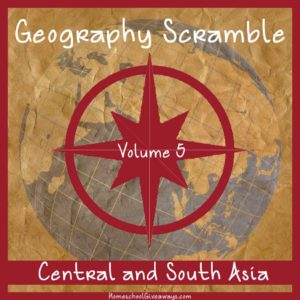 Geography Scramble-Central and South Asia