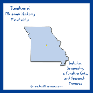FREE Missouri State History Printable
