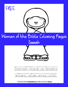 Free Women of the Bible Coloring Page-Sarah