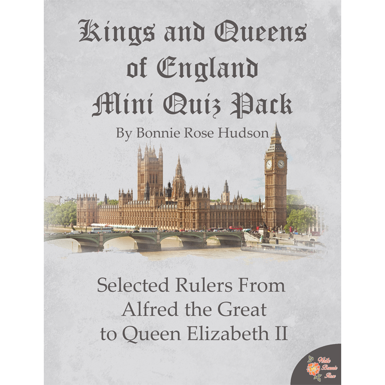 Kings and Queens of England Mini Quiz Pack (e-book)