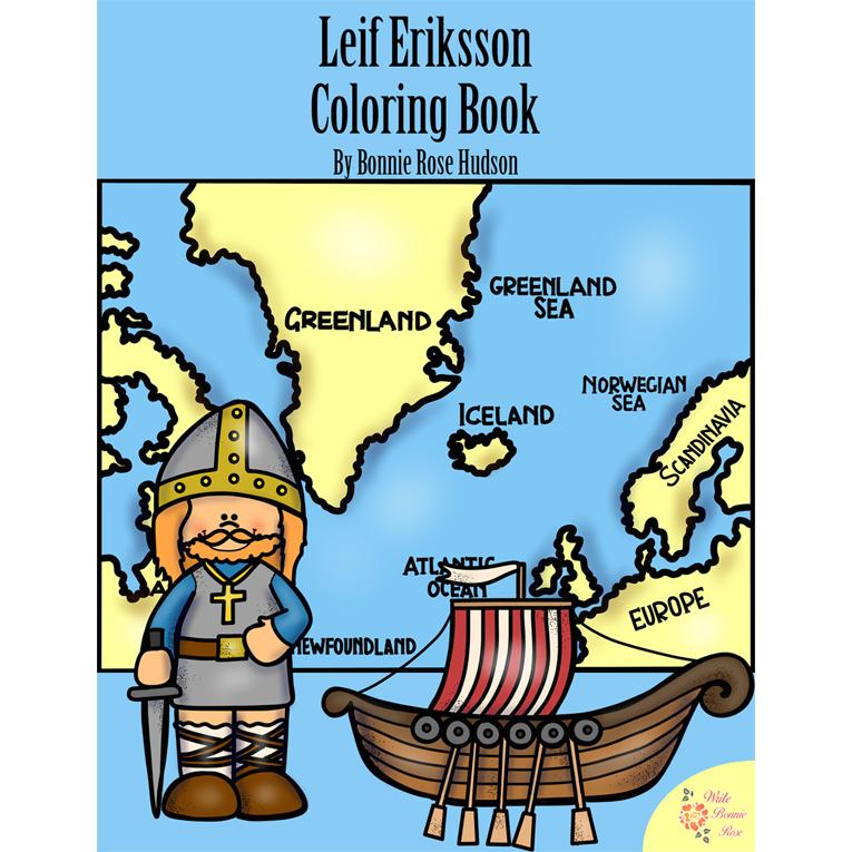 Leif Eriksson Coloring Book (e-book)