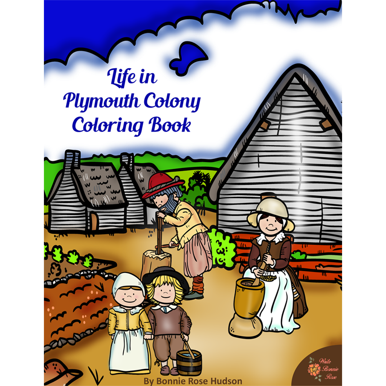 Life in Plymouth Colony Coloring Book (e-book)