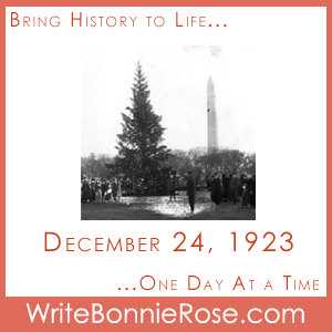 Timeline Worksheet: December 24, 1923, Lighting of the First National Christmas Tree