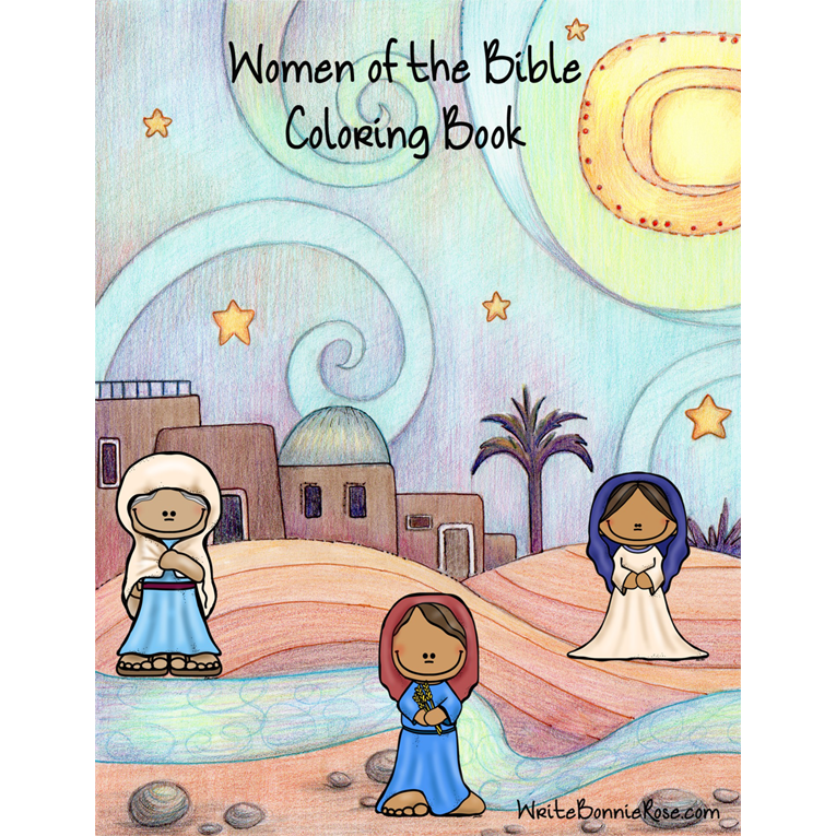 Women of the Bible Coloring Book (e-book)