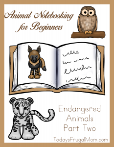 Animal Notebooking for Beginners, Endangered Animals, Pt. 2