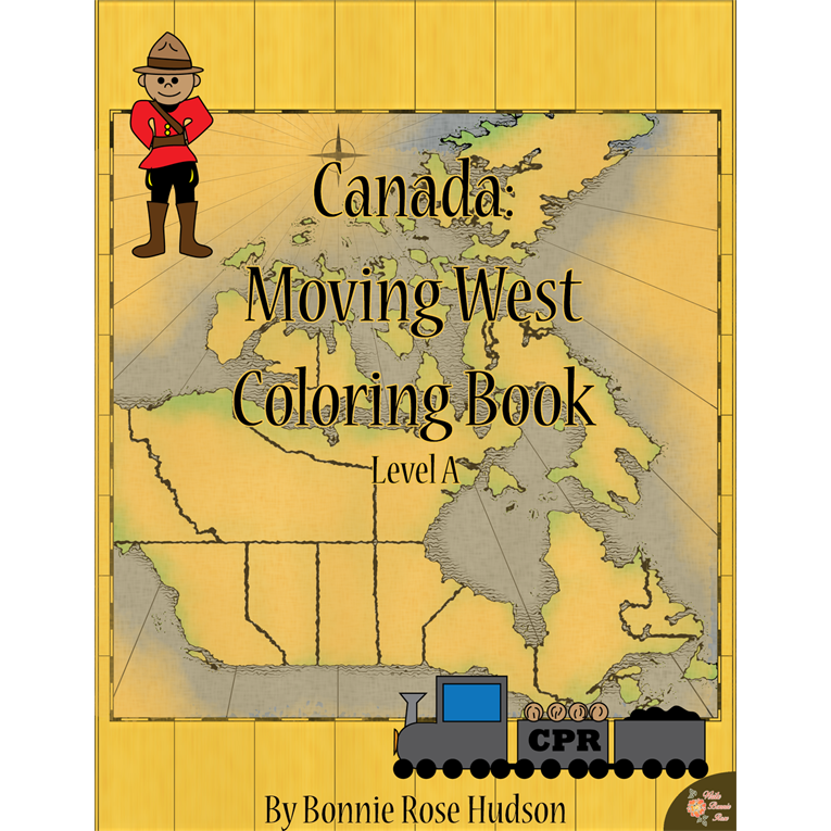 Canada: Moving West Coloring Book-Level A (e-book)