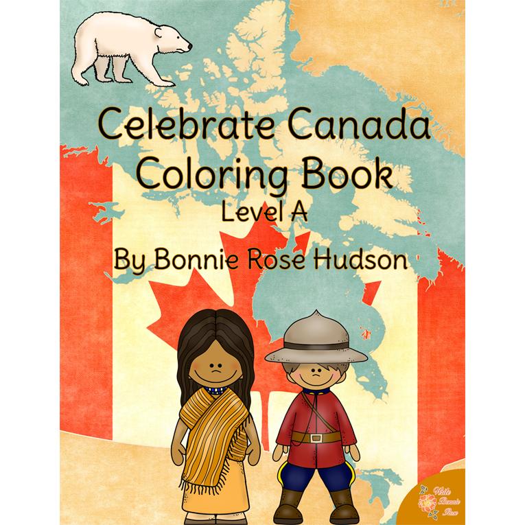 Celebrate Canada Coloring Book Level A E