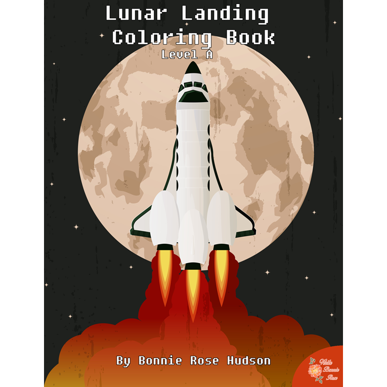Lunar Landing Coloring Book-Level A (e-book)