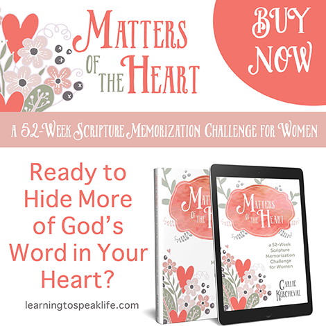 Matters of the Heart Scripture Memory Challenge