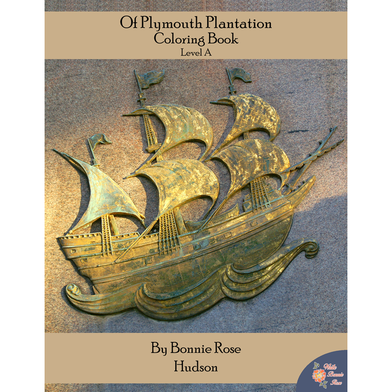 Of Plymouth Plantation Coloring Book-Level A (e-book)