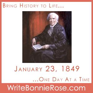 Timeline Worksheet, January 23, 1849, Elizabeth Blackwell