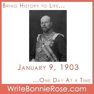 Timeline Worksheet: January 9, 1903, Hallam Tennyson