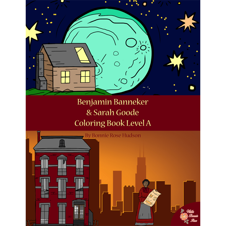 Benjamin Banneker & Sarah Goode Coloring Book—Level A (e-book)