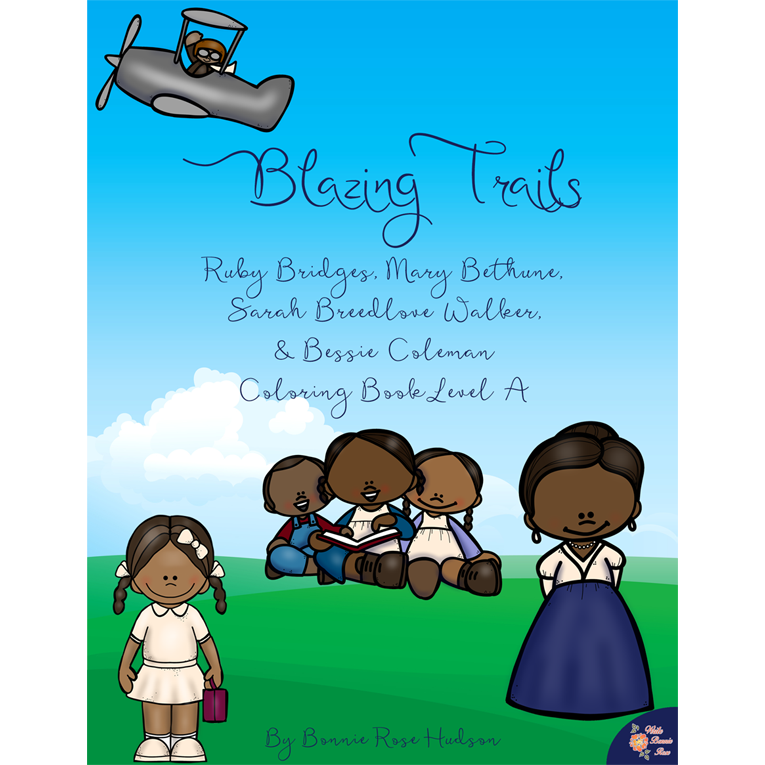 Blazing Trails Coloring Book—Level A (e-book)